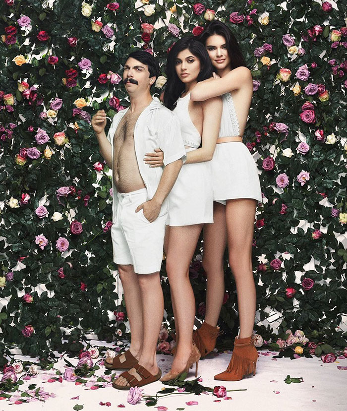 guy photoshops himself kendall kirby jenner 55 585b8dba46615  700 - A Middle-Aged Man In Kendall Jenner's Photos: Completely Photoshopped!