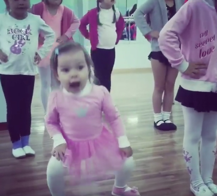 toddler dancing 1 - Toddler Ballets In Adorable Pink Tutu, And Becomes A Viral Sensation Worldwide
