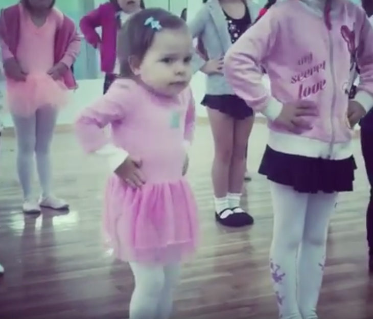 toddler dancing 3 - Toddler Ballets In Adorable Pink Tutu, And Becomes A Viral Sensation Worldwide