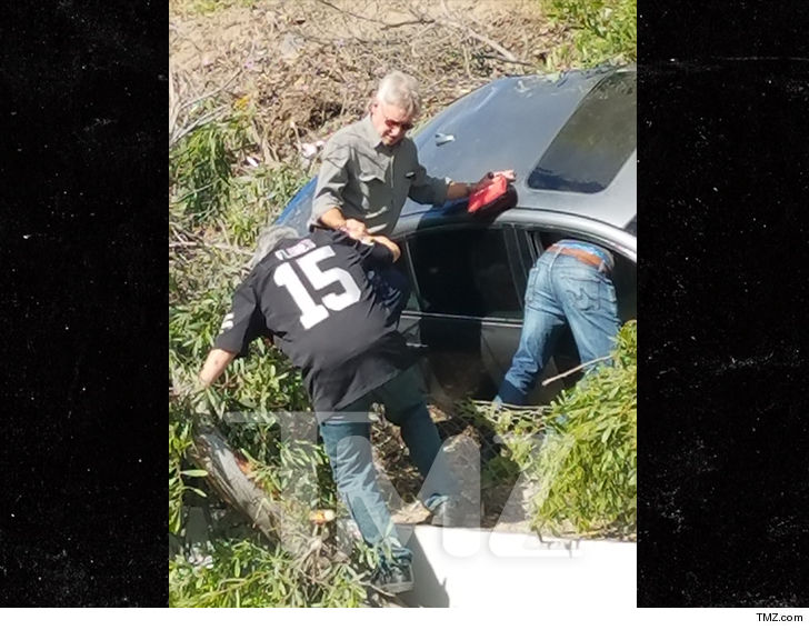 111 harrison ford car accident main tmz 8 - Herói também fora das telas, Harrison Ford ajuda pessoas em acidente