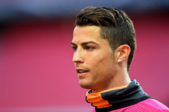 LISBON, PORTUGAL - MAY 23:  Cristiano Ronaldo of Real Madrid looks on during a Real Madrid training session ahead of the UEFA Champions League Final against Club Atletico de Madrid at Estadio da Luz on May 23, 2014 in Lisbon, Portugal.  (Photo by Laurence Griffiths/Getty Images)