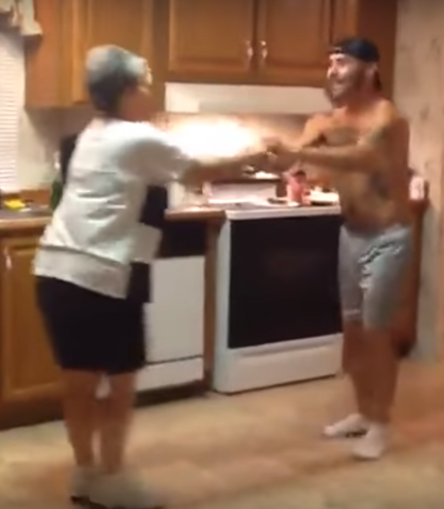 capture2 893x1024 - Son Grabs Mom's Hand When Their Favorite Song Comes On, Their Dance Blows Up The Internet