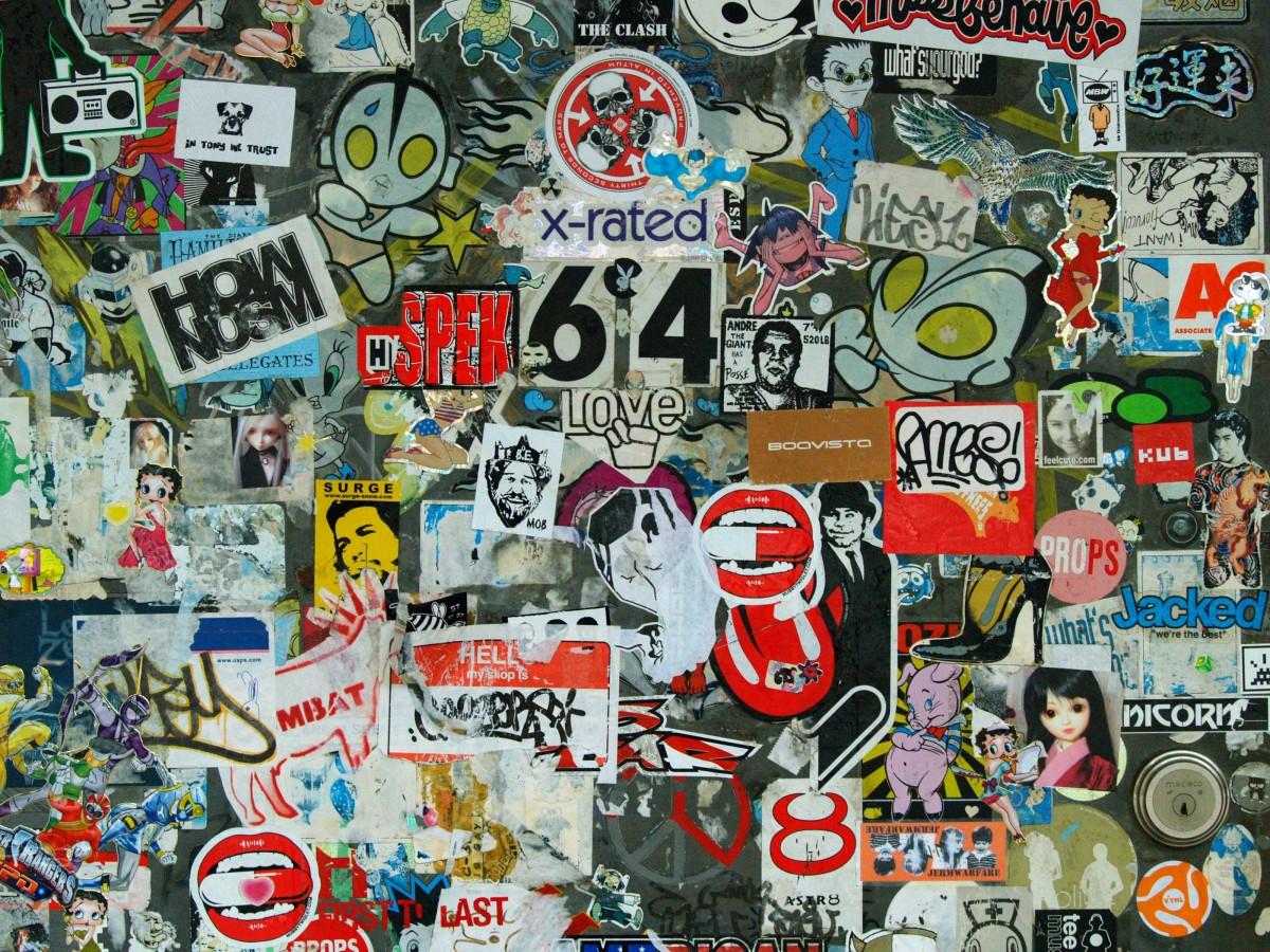 new york graffiti door street art art mural collage photomontage stickers comic book