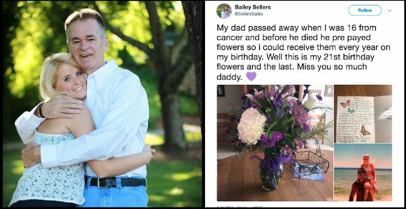 img 5a2638a0bced3 - Mesmo tendo morrido há 4 anos, pai segue presenteando a sua filha com flores