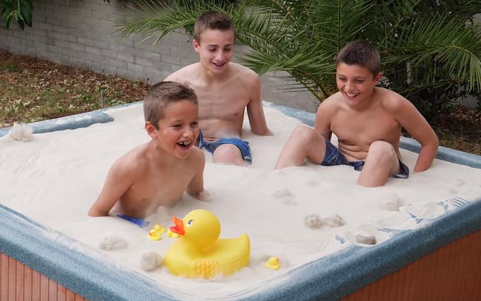liquid sand hot tube mark rober 7 - Turning Fine Sand Into Liquid Without Adding Single Drop Of Liquid