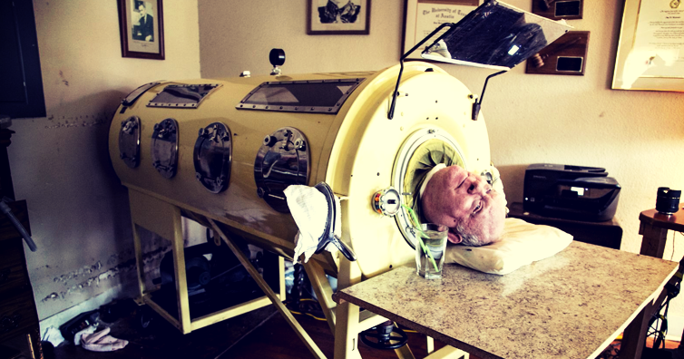negative pressure ventilators 1 - One of Three Iron Lungs Users In The United States