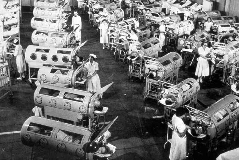negative pressure ventilators 6 - One of Three Iron Lungs Users In The United States