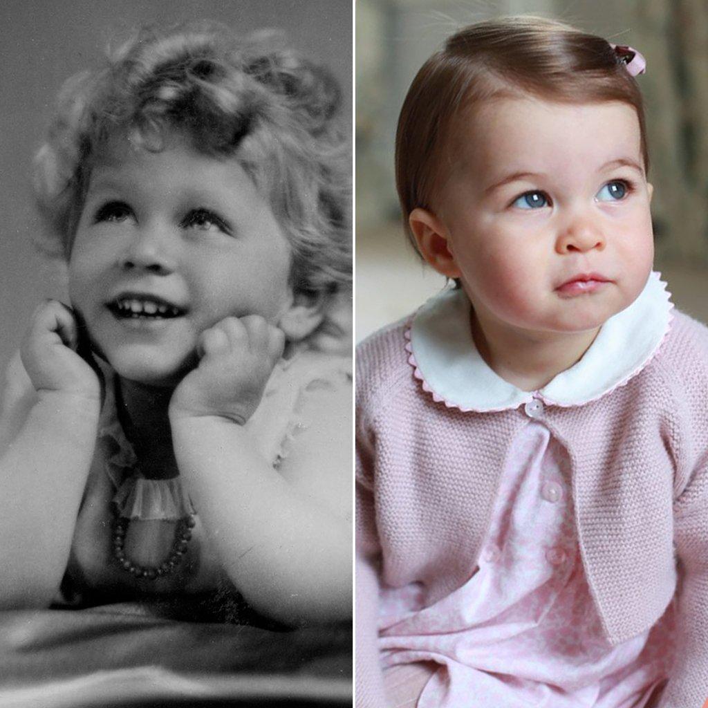 princess charlotte queen elizabeth lookalike pictures - Princesa Charlotte é muito parecida com a Rainha Elizabeth II quando pequena