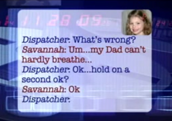 toddler daughter calls 911 for dad 2 - Dad Could Not Talk To 911 Due To Chest Pain, And His 5-Year-Old Daughter Takes Control