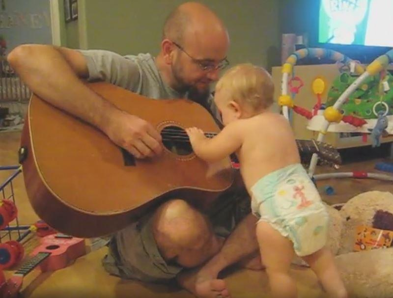 bonjovi1 - Father Plays Bon Jovi Song To His Baby Girl And Finds Out She Has Secret Talent