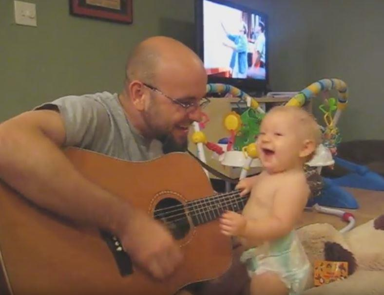 bonjovi2 - Father Plays Bon Jovi Song To His Baby Girl And Finds Out She Has Secret Talent