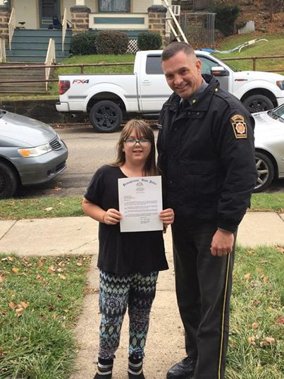 brooke 2 - 8-Year-Old Girl Impresses The State Police By Her Charitable Instincts