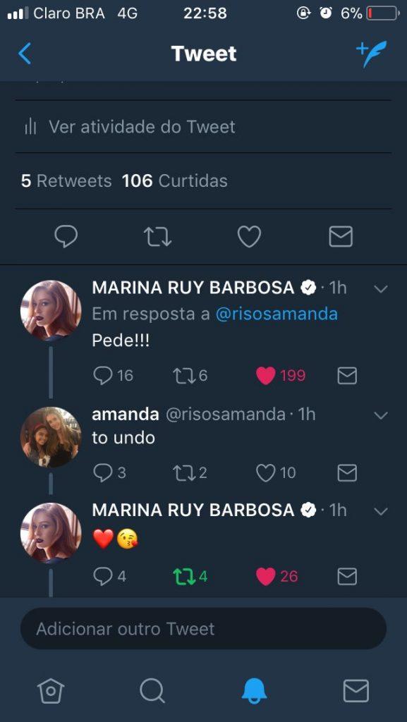 dttvi6gwkaav2vq 577x1024 - Fã tira selfie com Marina Ruy Barbosa graças à tweet que fez sobre atriz