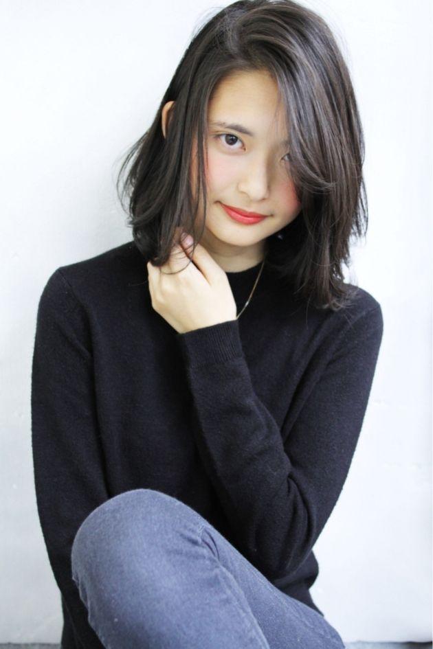 e841a45ae7039bb0b9bc708f940d94c0 lob hair yahoo - 黒髪ロングを可愛くアレンジ!パーマを綺麗に保つためにすべきこと