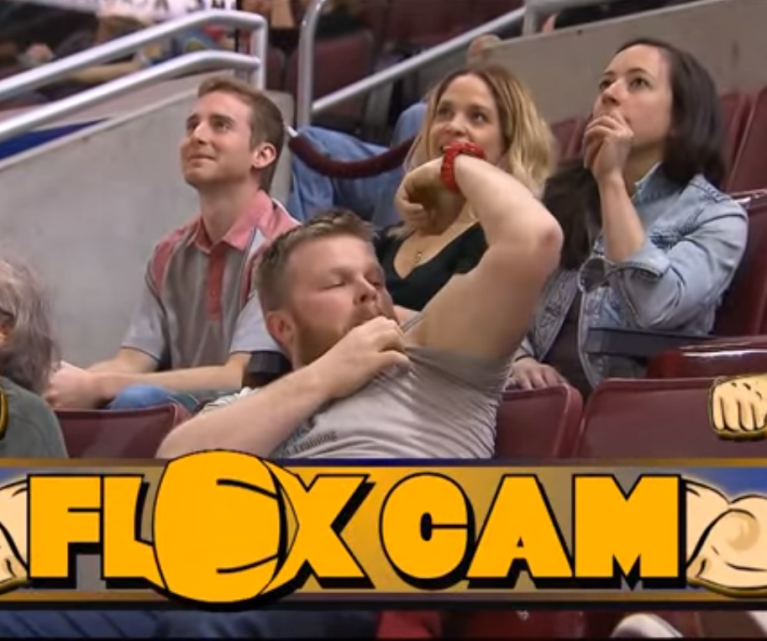 flexcam - Flex Cam! Woman Out-Muscles The Man On Stadium Who Tries To Show Off!