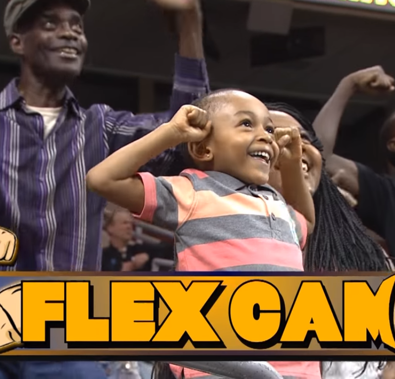 flexcam3 1 - Flex Cam! Woman Out-Muscles The Man On Stadium Who Tries To Show Off!