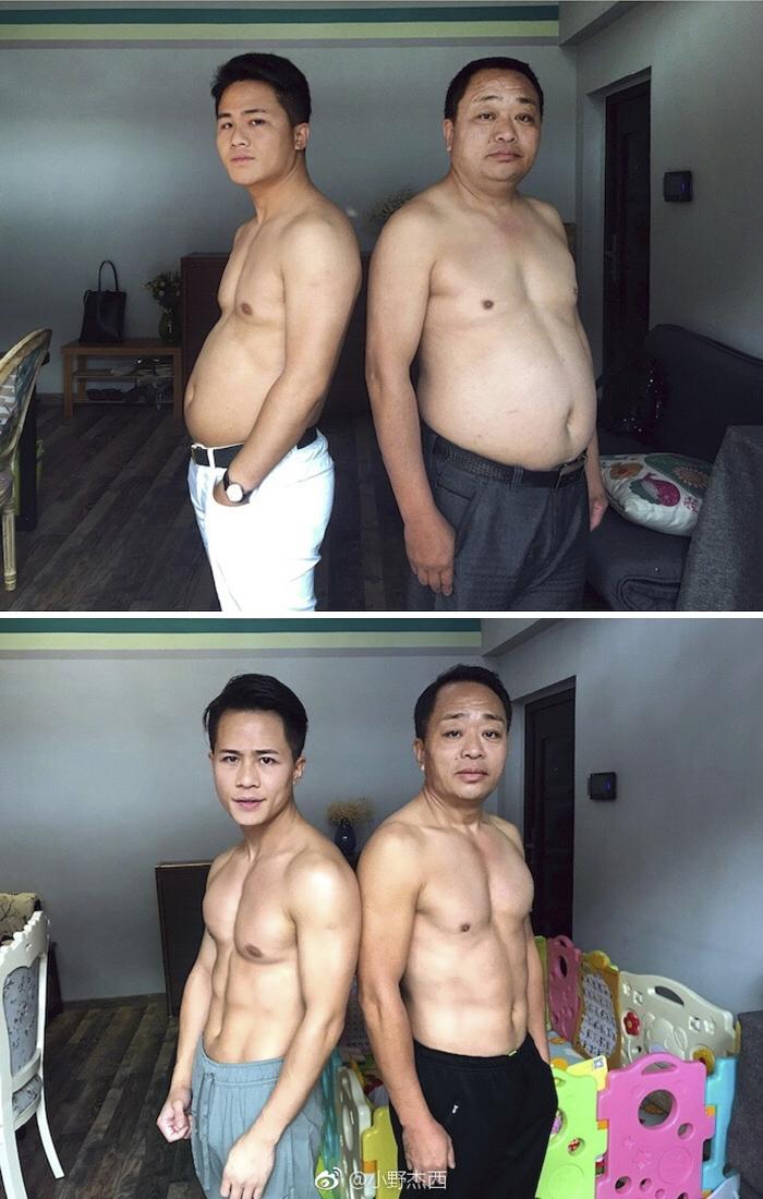 img 5a5691ac83e0a - 情侶健身算什麼?一家四口減肥6個月內練出大腹肌 效果超驚人!