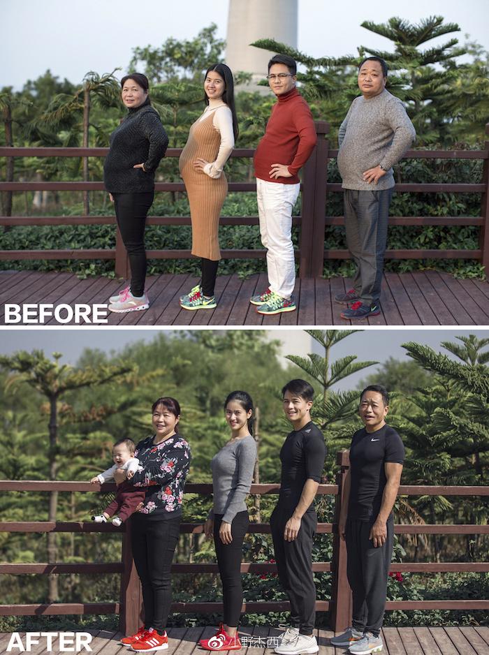 img 5a5691ba39921 - 情侶健身算什麼?一家四口減肥6個月內練出大腹肌 效果超驚人!