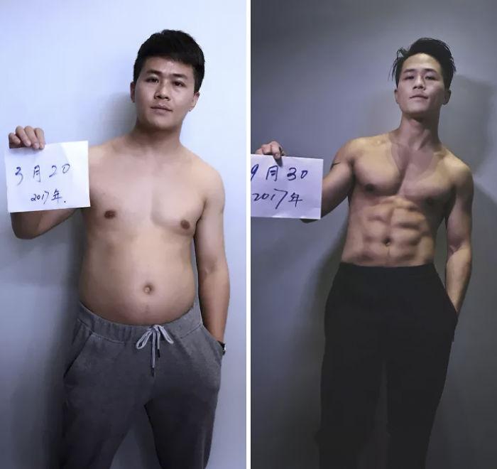img 5a5692e3f2968 - 情侶健身算什麼?一家四口減肥6個月內練出大腹肌 效果超驚人!