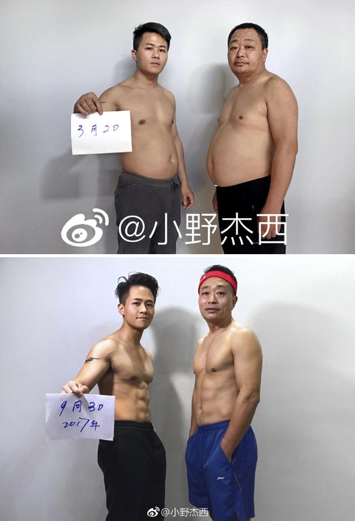 img 5a5693214ef31 - 情侶健身算什麼?一家四口減肥6個月內練出大腹肌 效果超驚人!
