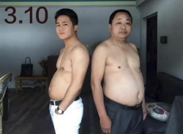 img 5a56933d90286 - 情侶健身算什麼?一家四口減肥6個月內練出大腹肌 效果超驚人!