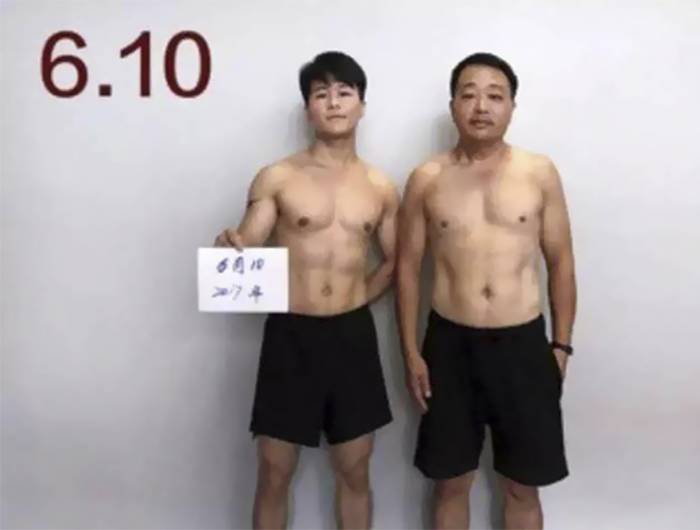 img 5a56934e25eee - 情侶健身算什麼?一家四口減肥6個月內練出大腹肌 效果超驚人!