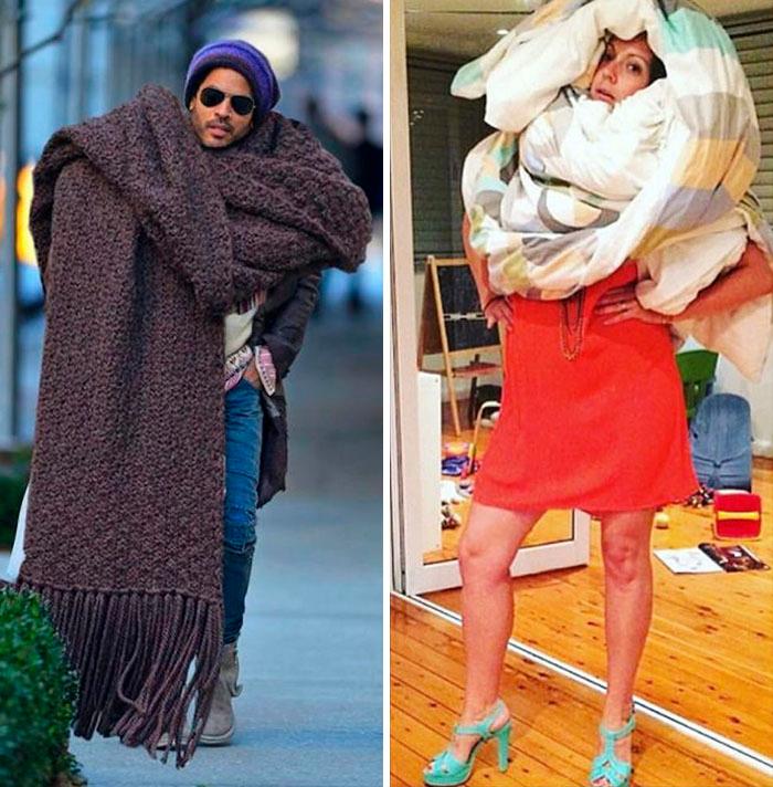img 5a58c4d8d10ce - Woman Recreates Famous Celebrity Instagram Photos With Hilarious Results
