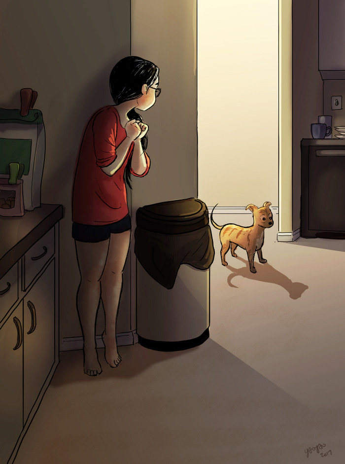 living alone 2 - Illustrator captures the perfect moments of living alone