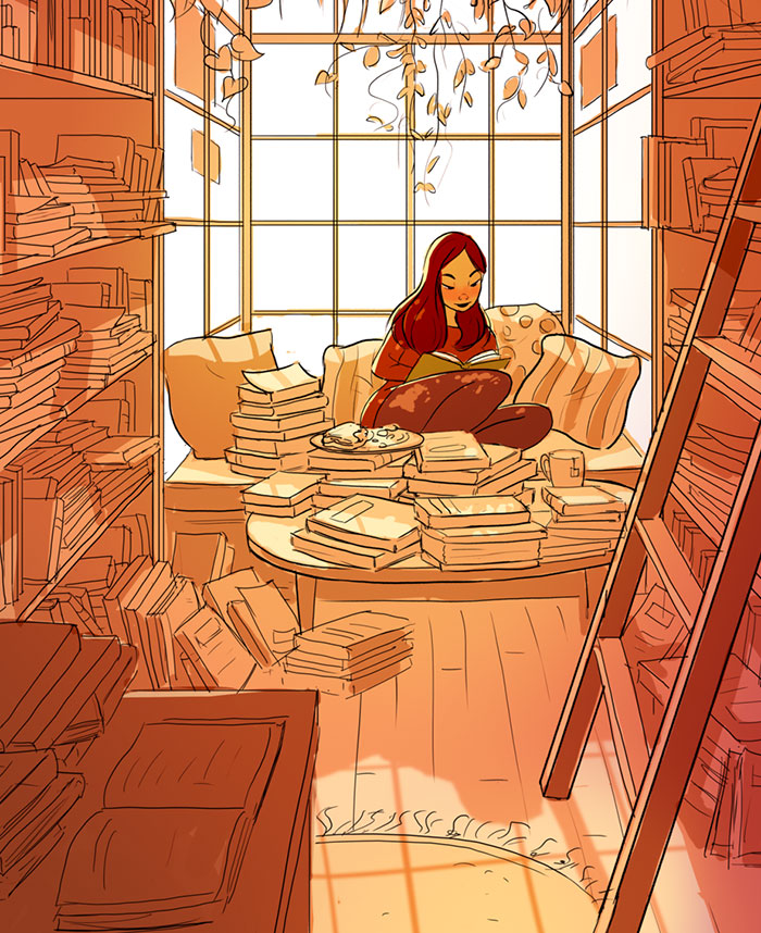 living alone 3 - Illustrator captures the perfect moments of living alone