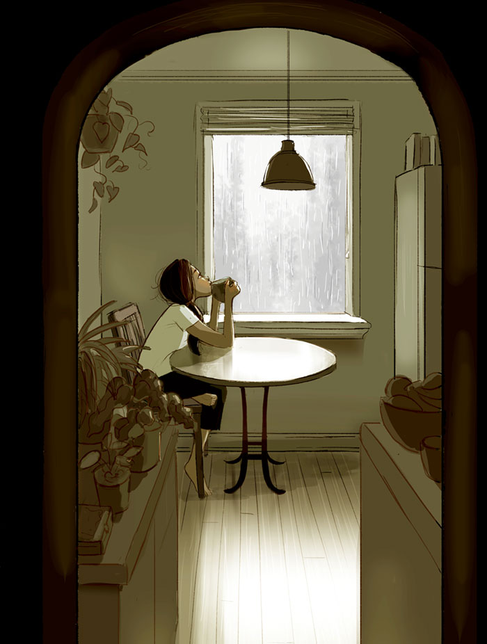 living alone 5 - Illustrator captures the perfect moments of living alone