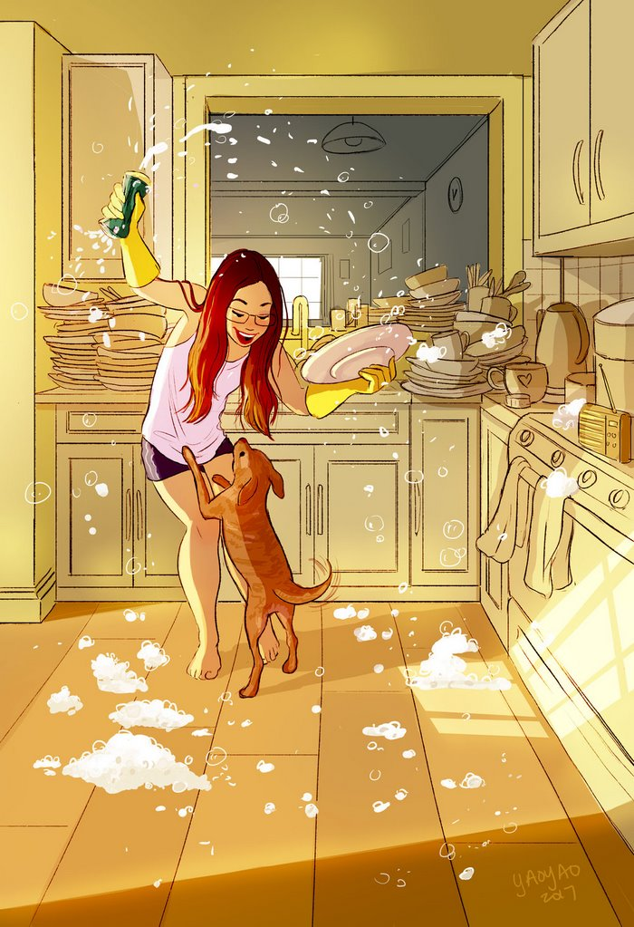 living alone 7 - Illustrator captures the perfect moments of living alone