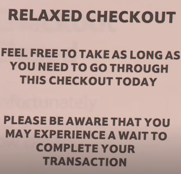 tesco4 - RELAXED CHECKOUT: Customers Left Speechless After Reading A Sign While Unpleasantly Waiting In Line