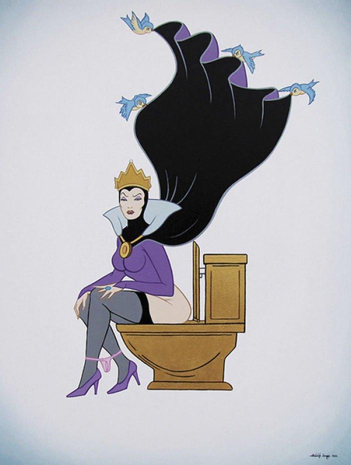 10 123 - 還我美好的童年回憶!當迪士尼卡通人物生活於現代社會中 #19 我不相信白馬王子都是整形來的~(泣)
