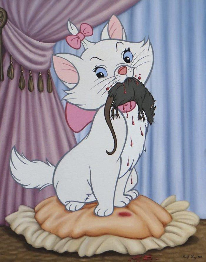 11 107 - 還我美好的童年回憶!當迪士尼卡通人物生活於現代社會中 #19 我不相信白馬王子都是整形來的~(泣)