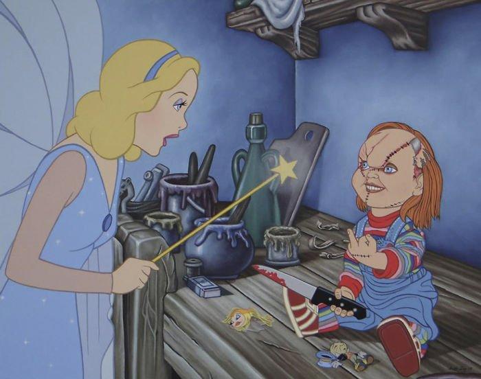 13 75 - 還我美好的童年回憶!當迪士尼卡通人物生活於現代社會中 #19 我不相信白馬王子都是整形來的~(泣)
