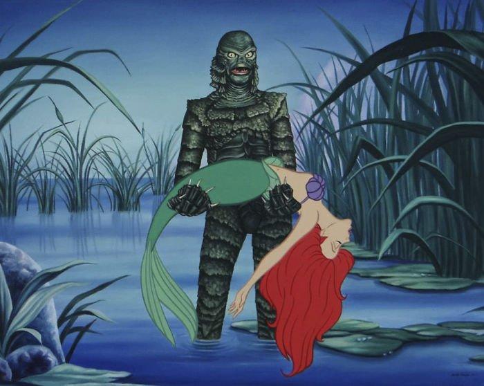 15 55 - 還我美好的童年回憶!當迪士尼卡通人物生活於現代社會中 #19 我不相信白馬王子都是整形來的~(泣)