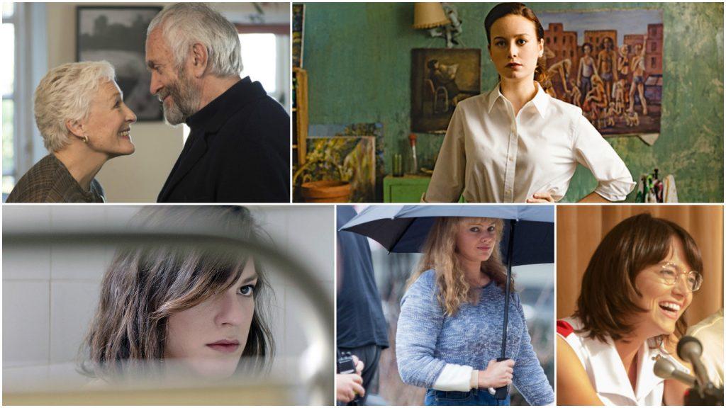 2018 best actress contenders glenn close brie larson daniela vega margot robbie emma stone 1024x576 - Oscar 2018: confira indicados e apostas dos críticos