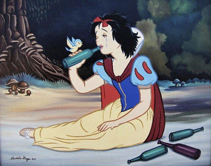 29 20 - 還我美好的童年回憶!當迪士尼卡通人物生活於現代社會中 #19 我不相信白馬王子都是整形來的~(泣)