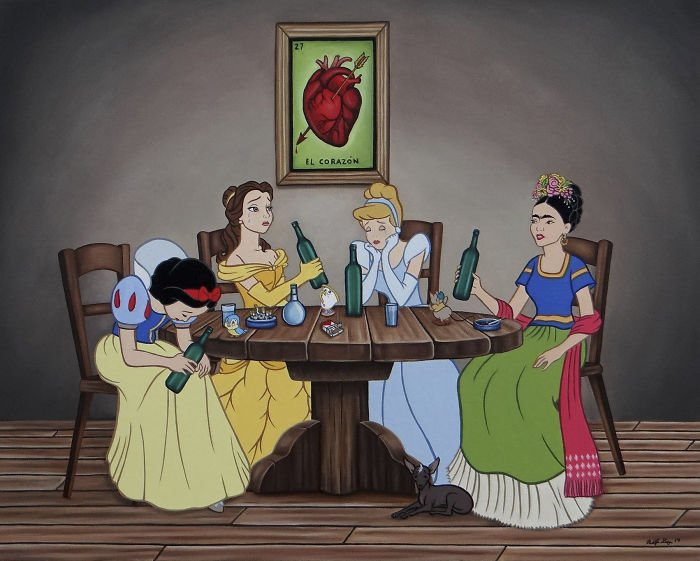 3 418 - 還我美好的童年回憶!當迪士尼卡通人物生活於現代社會中 #19 我不相信白馬王子都是整形來的~(泣)