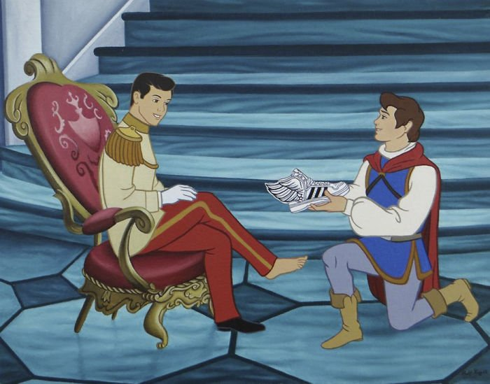 8 170 - 還我美好的童年回憶!當迪士尼卡通人物生活於現代社會中 #19 我不相信白馬王子都是整形來的~(泣)