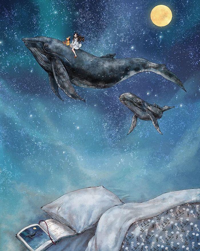 img 5a83ab87d89f1 - 韓國藝術家畫下「單身&寵物」的獨居生活,網民驚嘆「原來是幸福!」