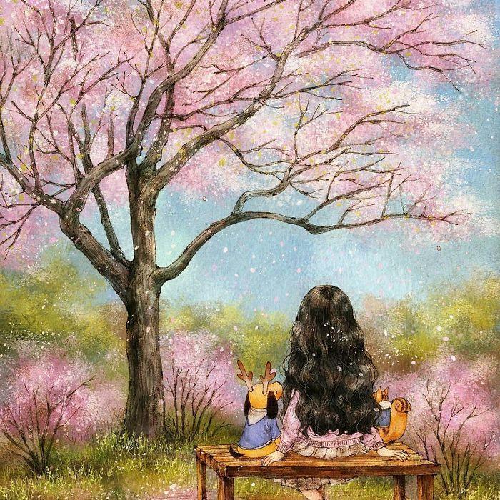 img 5a83abad0e3a8 - 韓國藝術家畫下「單身&寵物」的獨居生活,網民驚嘆「原來是幸福!」