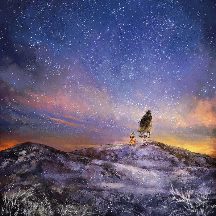 img 5a83ac5986996 - 韓國藝術家畫下「單身&寵物」的獨居生活,網民驚嘆「原來是幸福!」