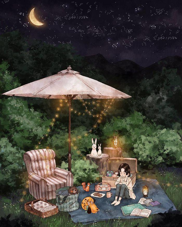 img 5a83ac62a9138 - 韓國藝術家畫下「單身&寵物」的獨居生活,網民驚嘆「原來是幸福!」