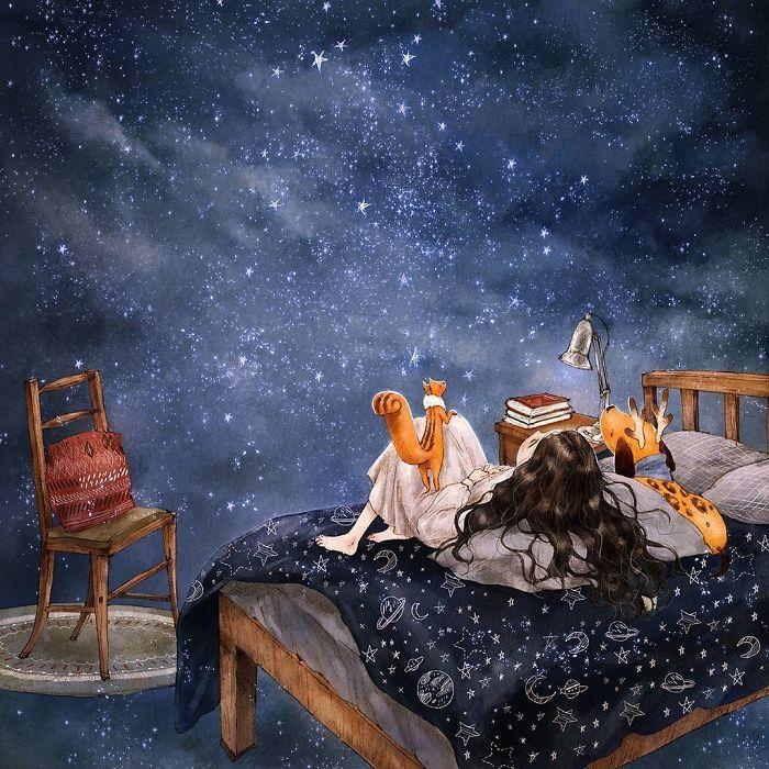 img 5a83ac9e0dd49 - 韓國藝術家畫下「單身&寵物」的獨居生活,網民驚嘆「原來是幸福!」