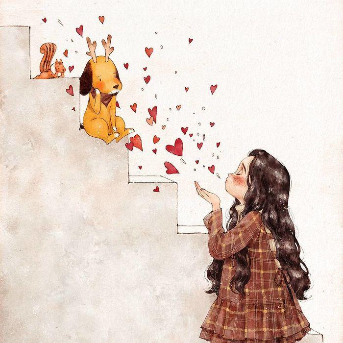 img 5a83acd5731c8 - 韓國藝術家畫下「單身&寵物」的獨居生活,網民驚嘆「原來是幸福!」