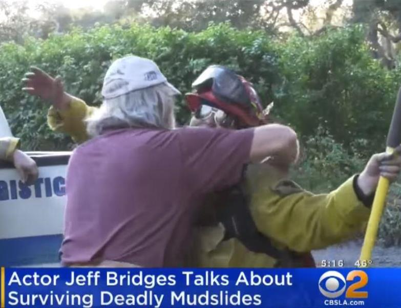 mudslides1 - Jeff Bridges' Horrendous Experience Of Surviving From Deadly Mudslide