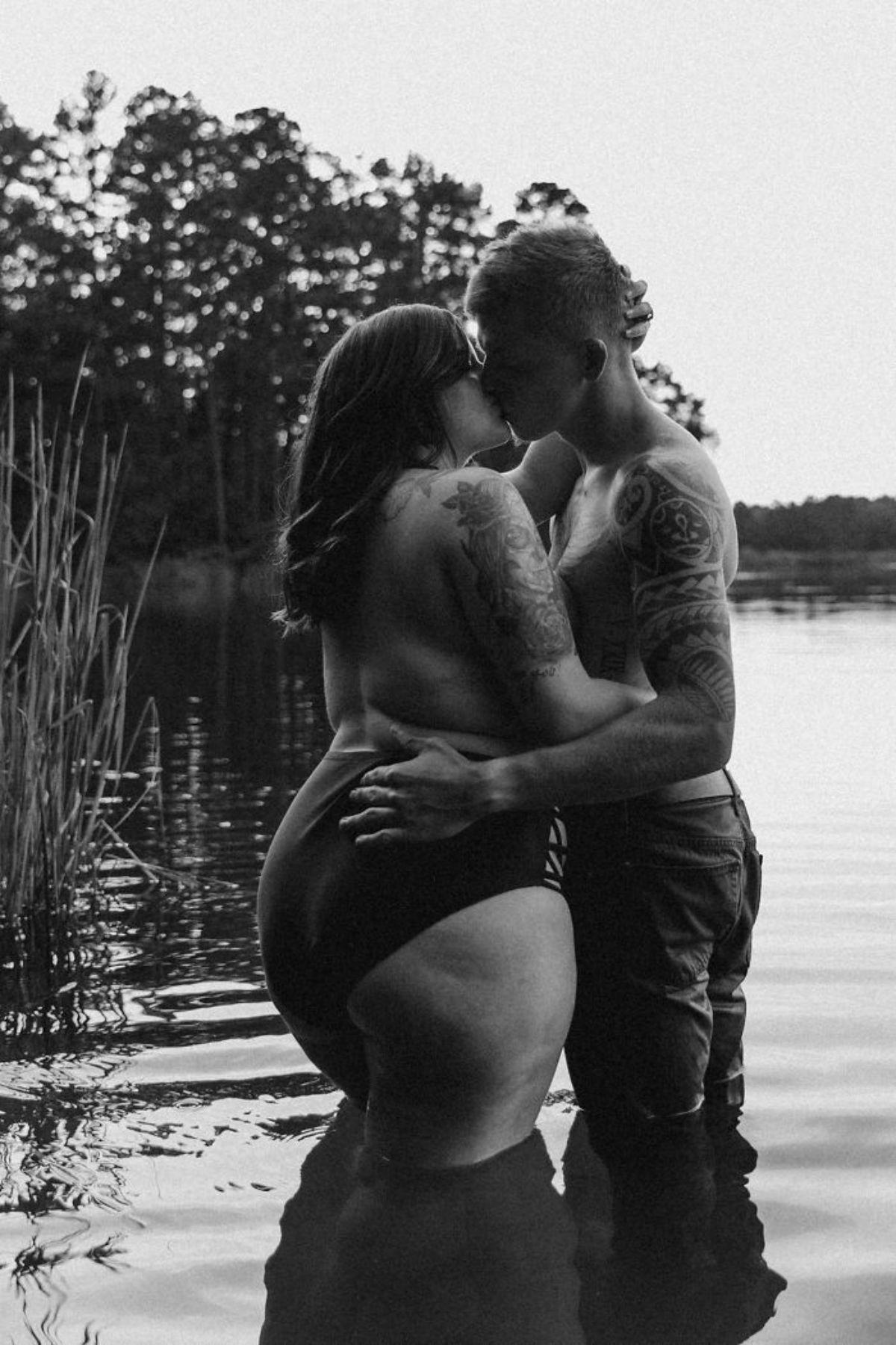 pic1 - Mulher Plus Size e noivo fazem ensaio fotográfico mostrando seu amor enquanto viralizam na internet