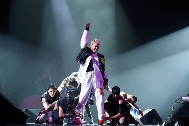 pink at nomadic live 1 - Pink Struggles To Get Voice Back As She Fights Influenza One Day Prior To Super Bowl Anthem Performance