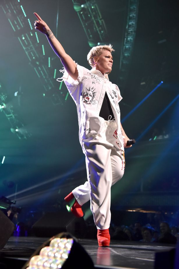 pink at nomadic live - Pink Struggles To Get Voice Back As She Fights Influenza One Day Prior To Super Bowl Anthem Performance